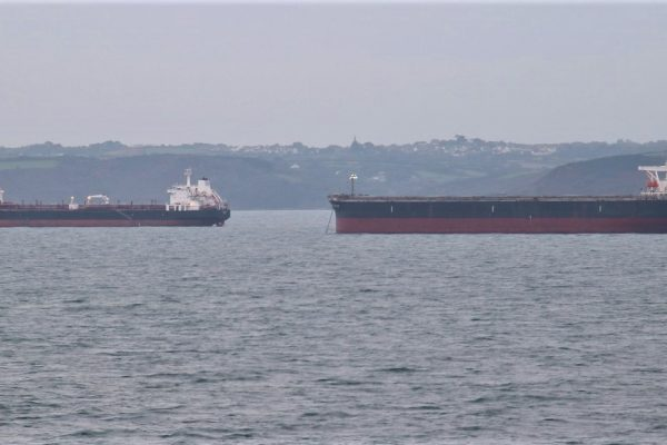 Ships in Falmouth Bay