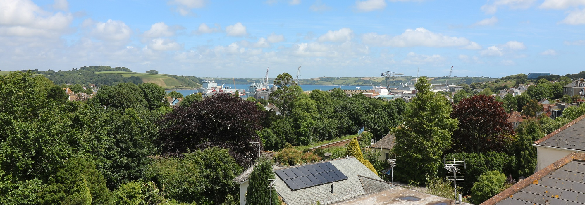 """A good view from Dolvean House B&B Falmouth"""